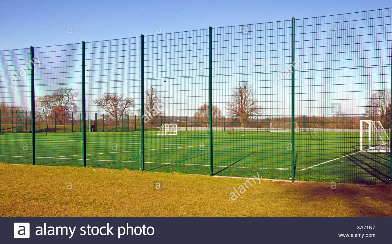 UK - Astro Football Pitch - Stock Image