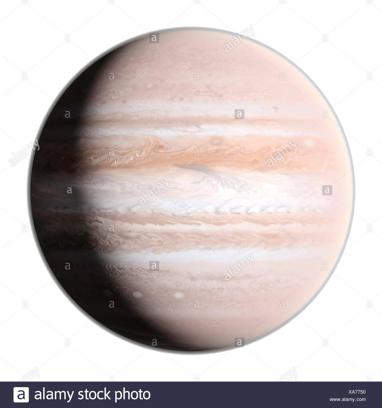Planet jupiter, computer illustration. - Stock Image