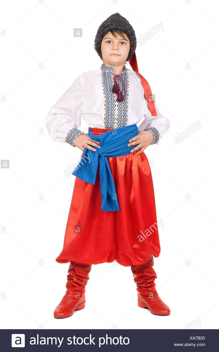 Boy in the Ukrainian national costume - Stock Image