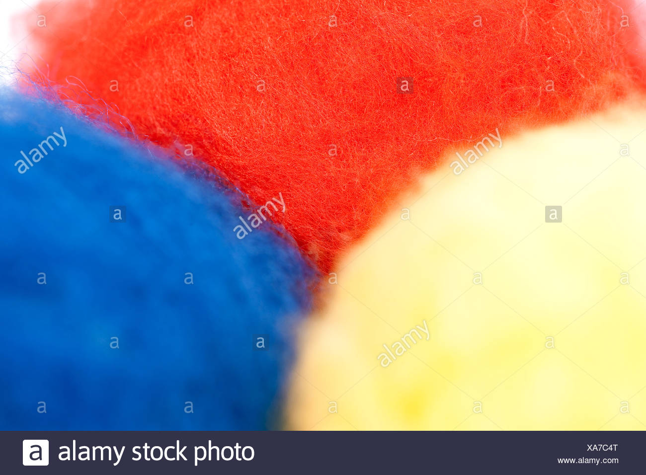 Multicoulored viscose fibres for the production of clothing - Stock Image