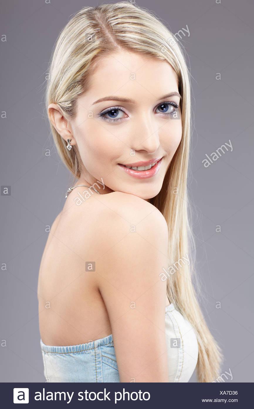 blonde girl - Stock Image