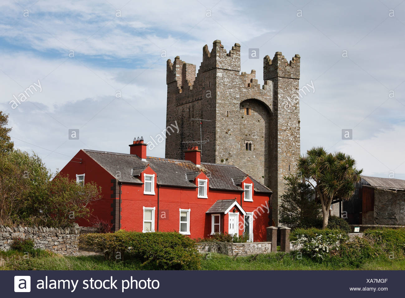 Kilclief Castle, County Down, Northern Ireland, Ireland, United Kingdom, Europe, PublicGround - Stock Image
