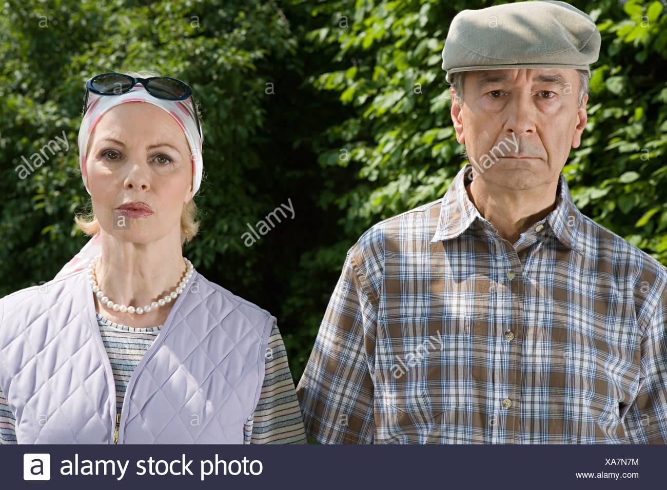 Serious senior couple - Stock Image