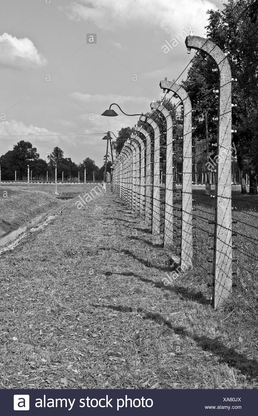 Auschwitz Birkenau concentration camp. - Stock Image