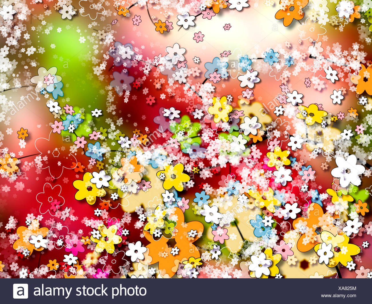Ornamental colorful background or wallpaper of flowers Stock Photo ...