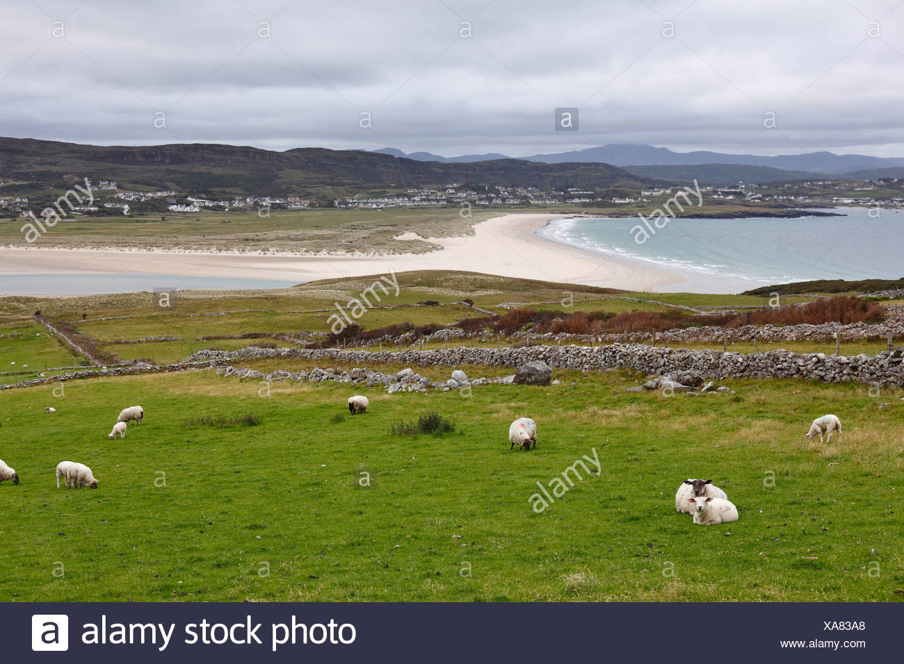View from Horn Head over Dunfanaghy, County Donegal, Ireland, Europe - Stock Image