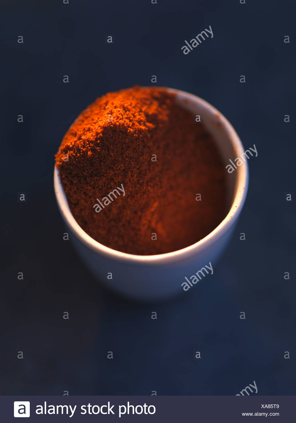 Mild ground red pepper Stock Photo