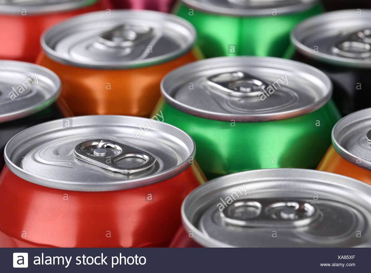 tin,drink can - Stock Image