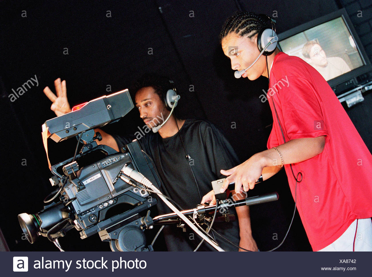 Two cameramen - Stock Image
