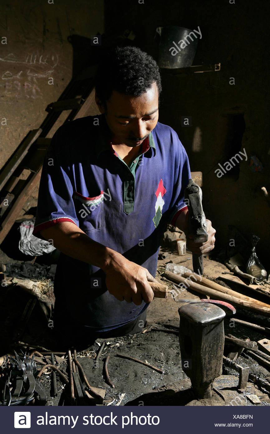 Morocco, Souss Massa Draa region, Zagora, Amezrou,Old style jewelry artisan hand made following the jewish tradition of jewish artisans - Stock Image
