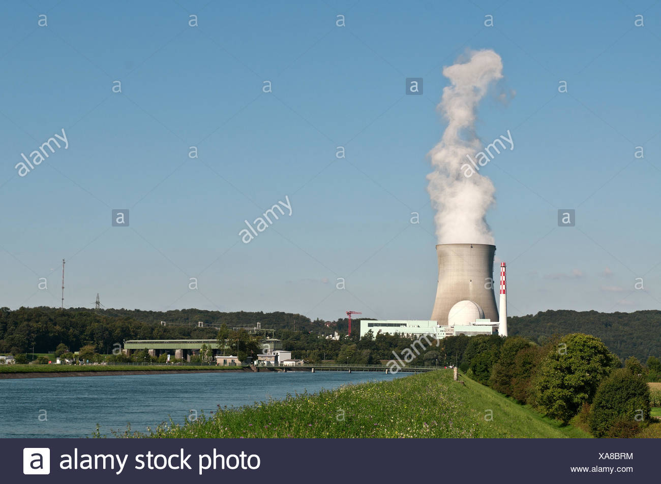 nuclear power plant leibstadt Stock Photo