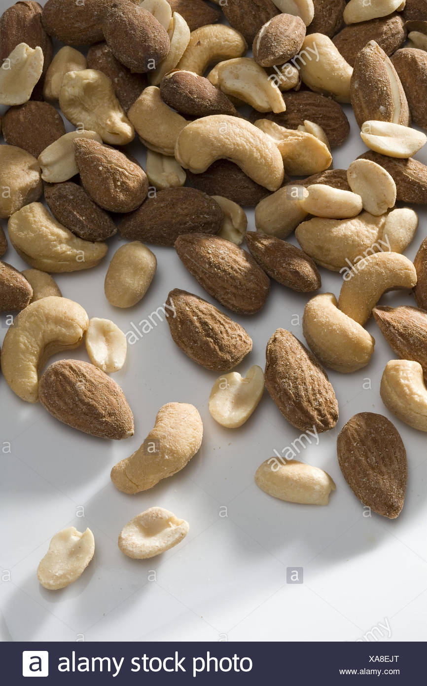Nuts, merged, - Stock Image