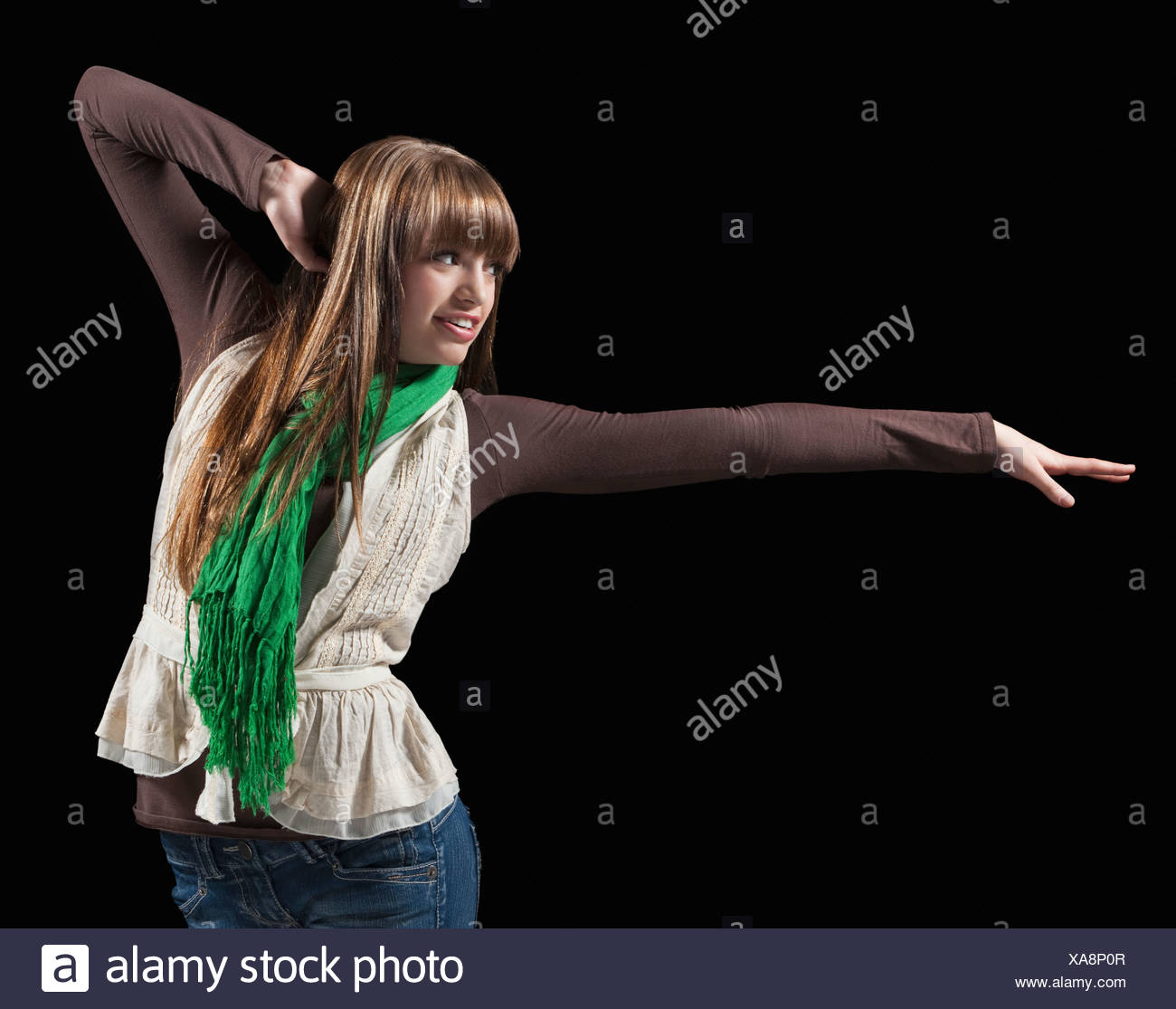 Female dancer performing lyrical dance Stock Photo