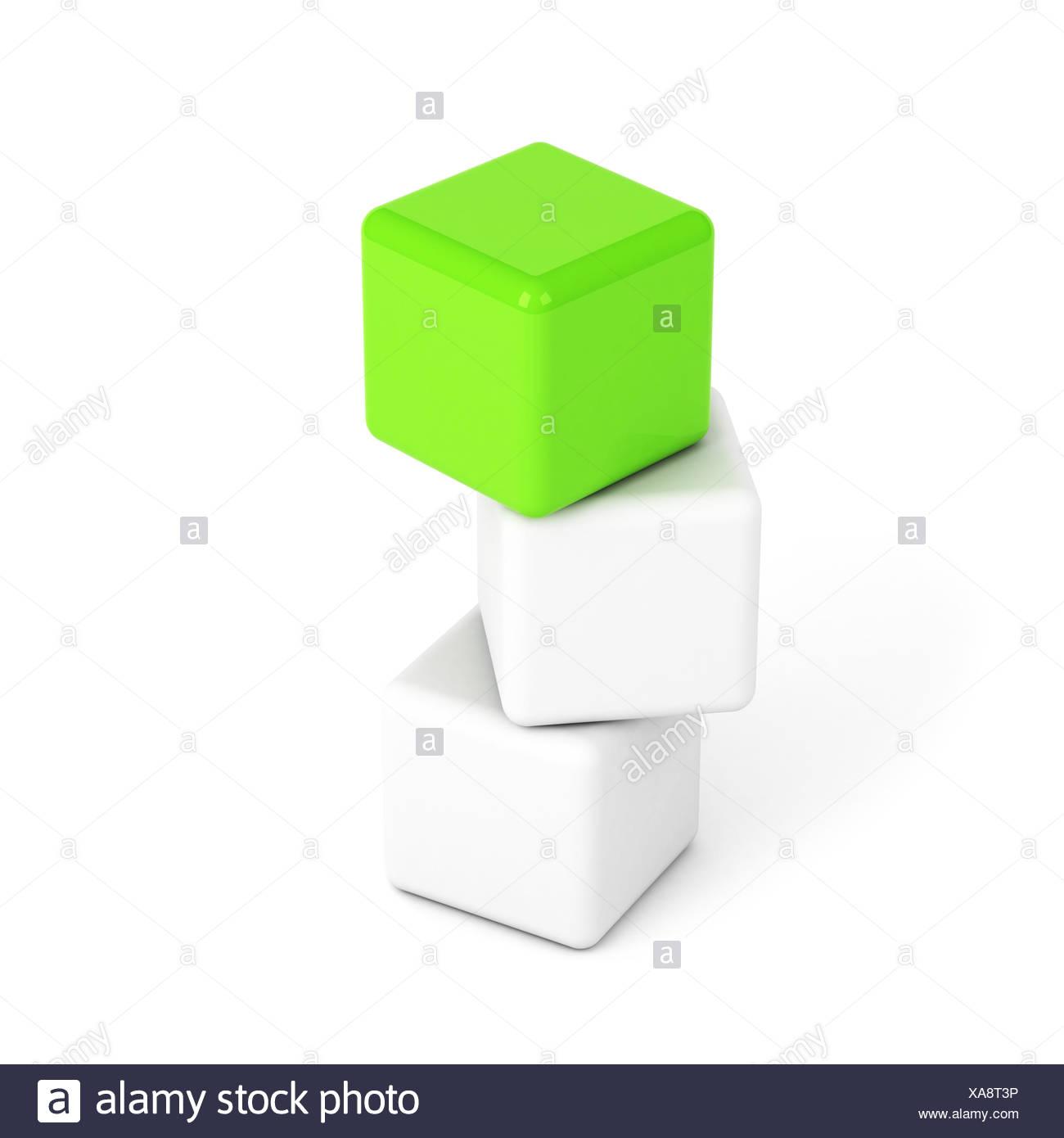 bright green box leadership concept - Stock Image