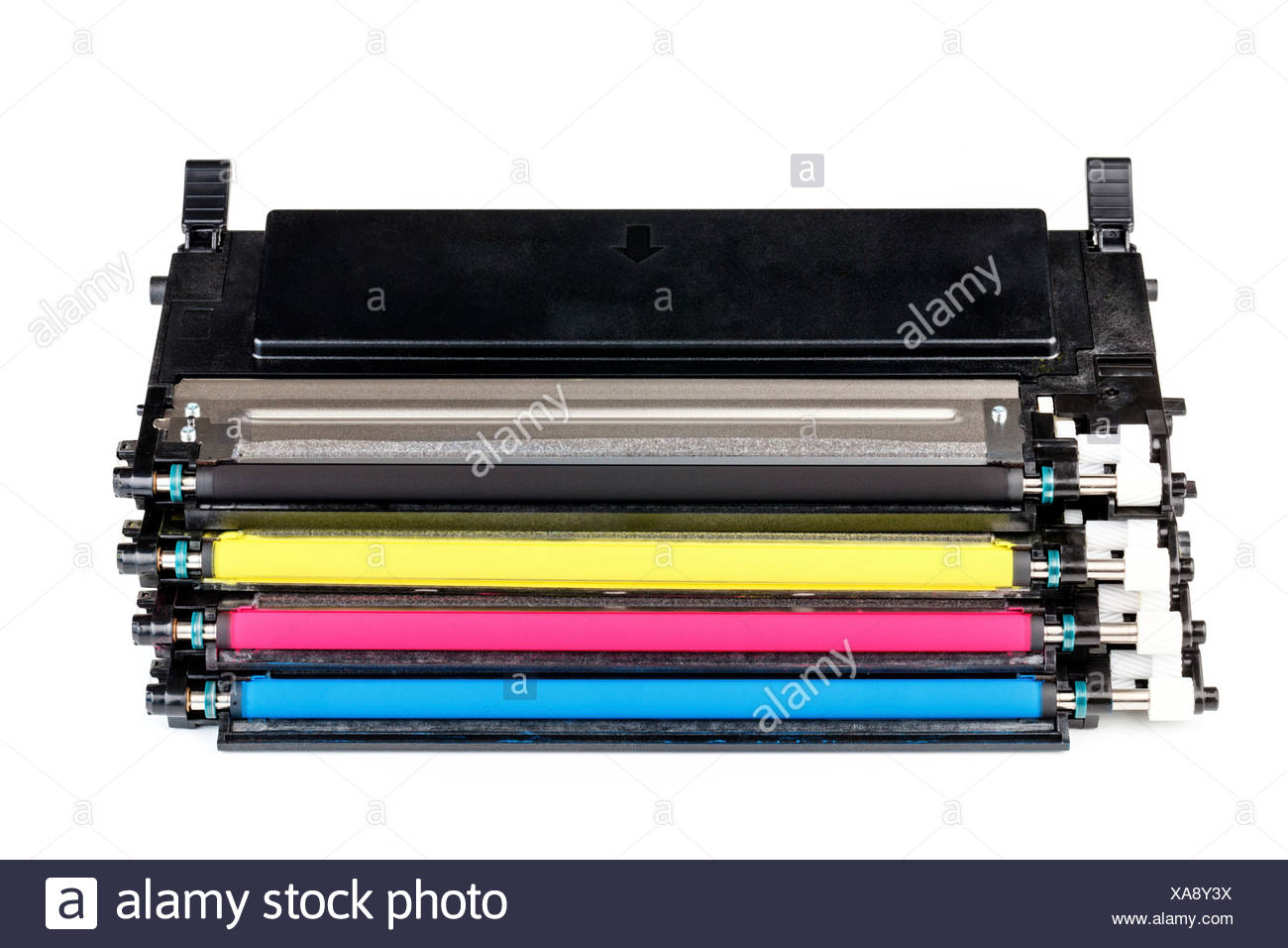 Colour printer cartridge - Stock Image