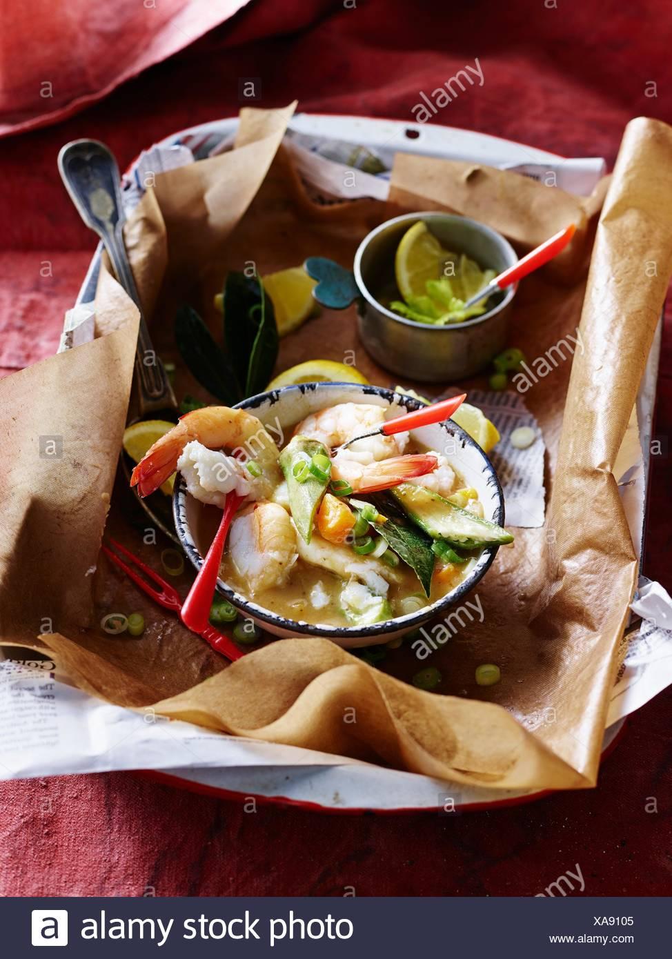Old Bay Seasoning American Gumbo - Stock Image