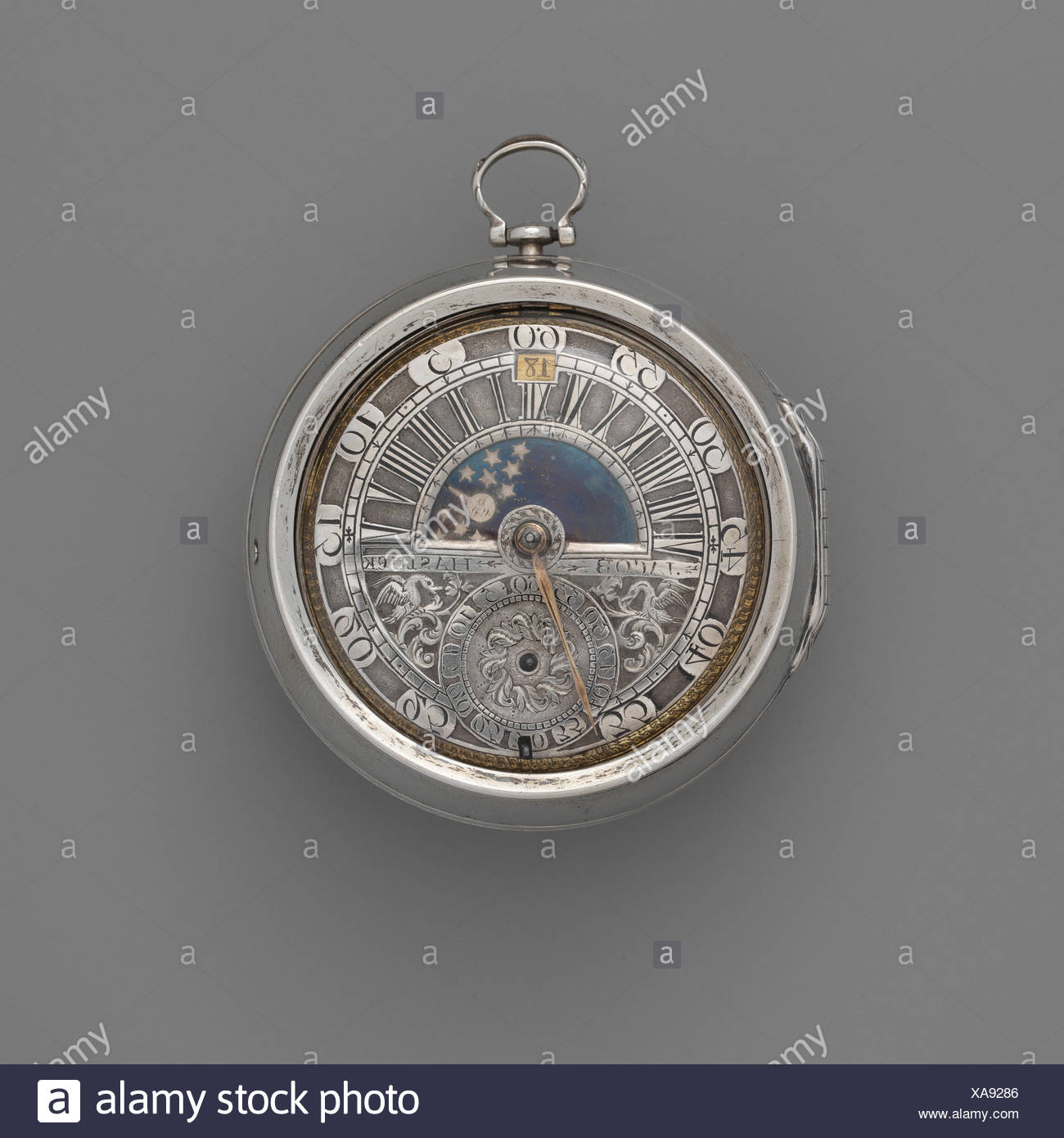 Watch. Maker: Watchmaker: Jacob Hasluck (ca. 1695, recorded 1704, died 1747); Maker: Case maker: Marcus Bellanger (French, active Amsterdam, - Stock Image