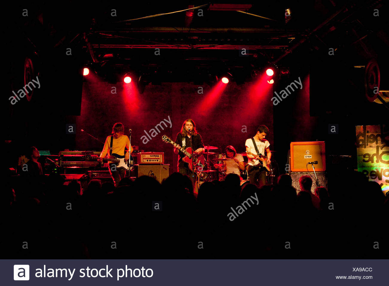 The Swiss pop band Sheila She Loves You, live at the Schueuer Concert Hall, Lucerne, Switzerland - Stock Image
