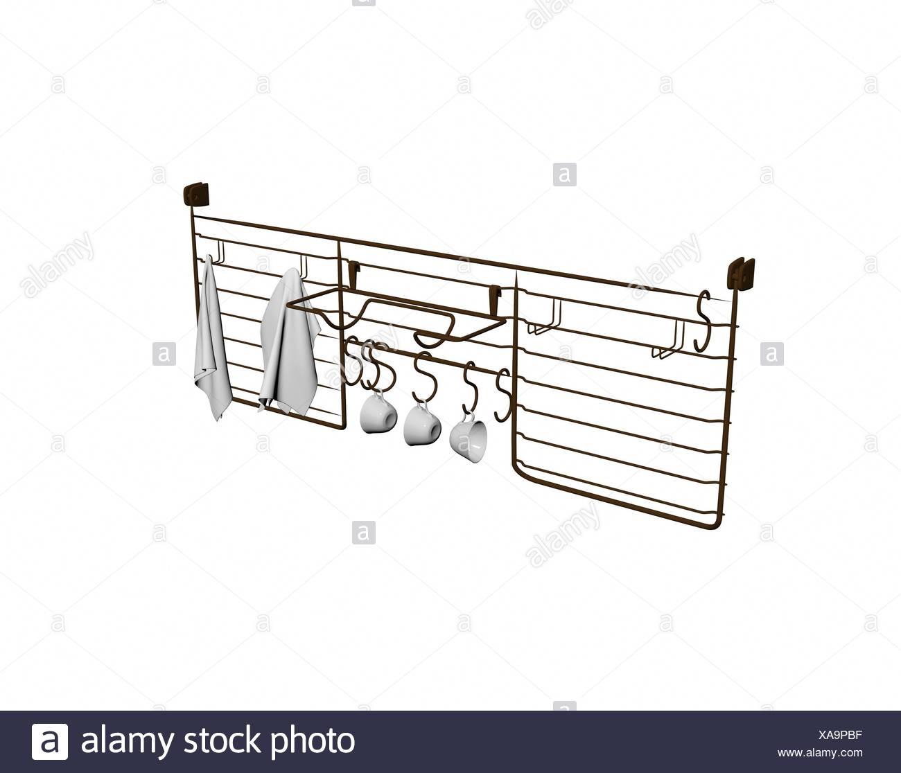 optional kitchen shelf - Stock Image