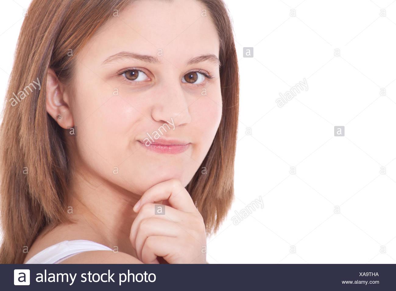 Deliberating woman - Stock Image