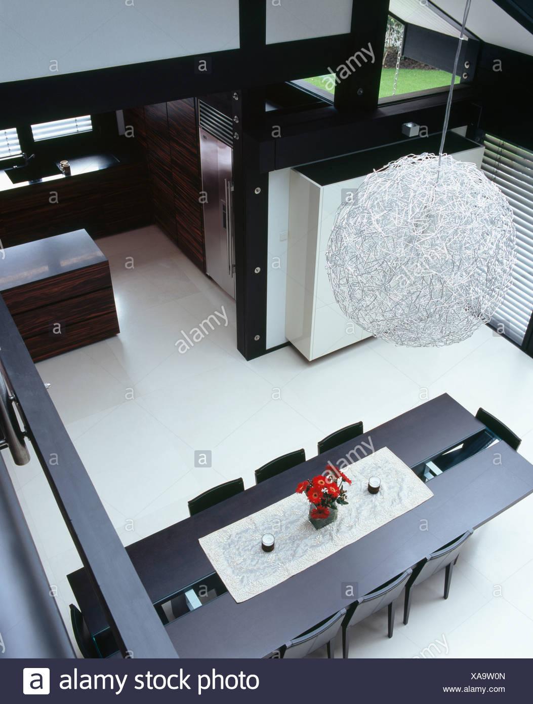Prime Birdseye View Of Circular Metallic Light Fitting Above Black Creativecarmelina Interior Chair Design Creativecarmelinacom