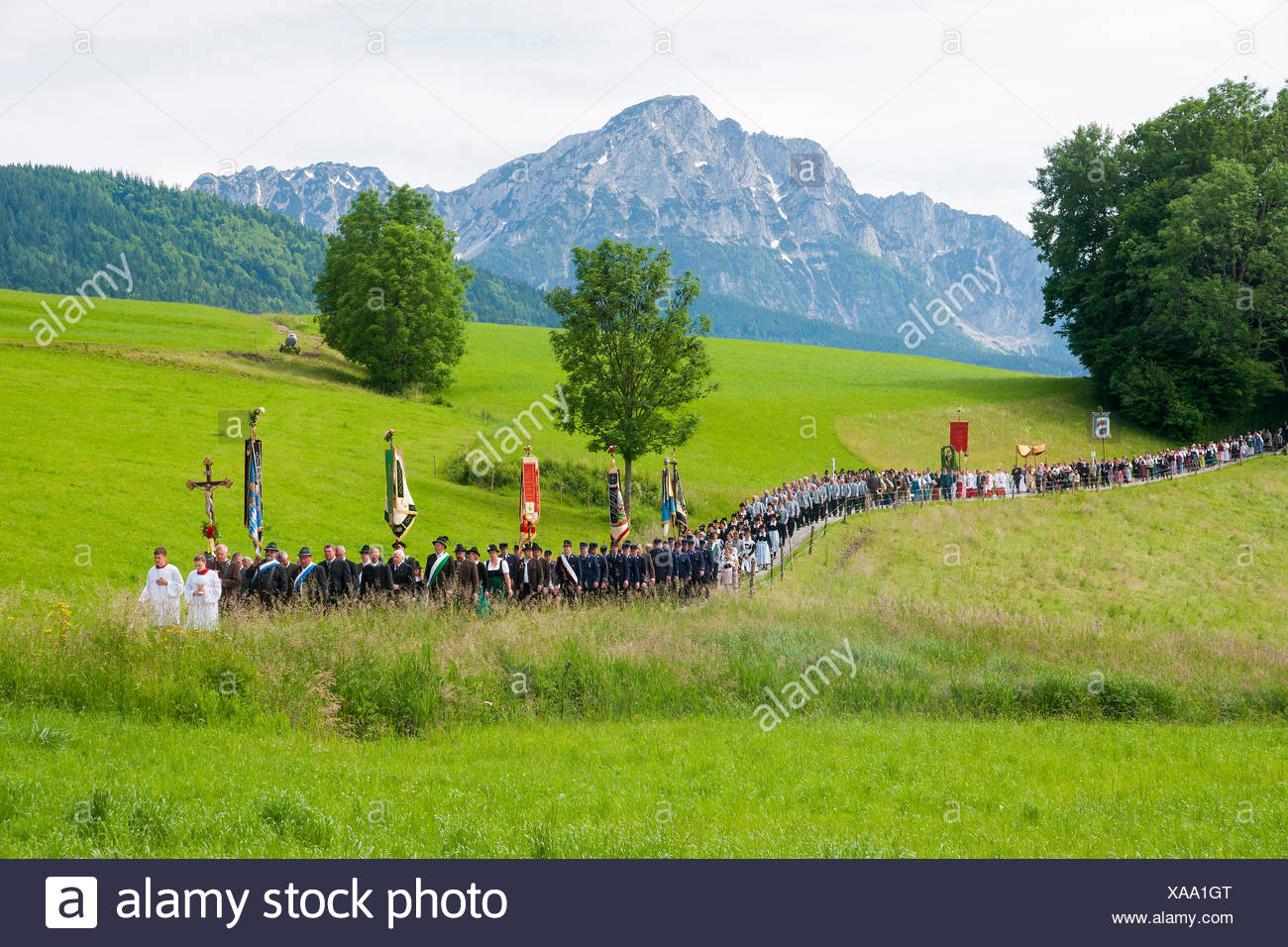 Corpus Christi procession from Anger to Höglwörth - Stock Image