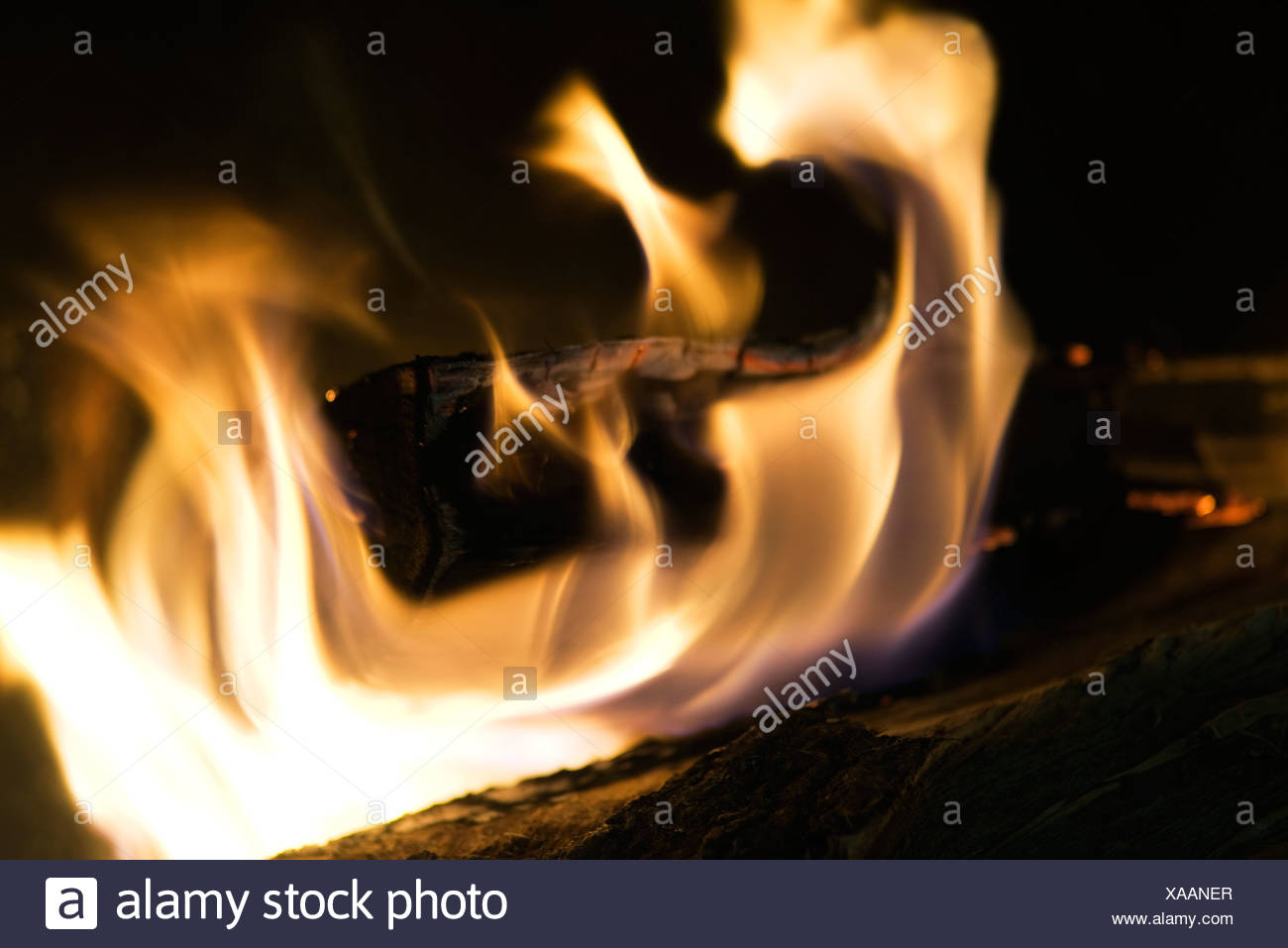Fire, close-up - Stock Image