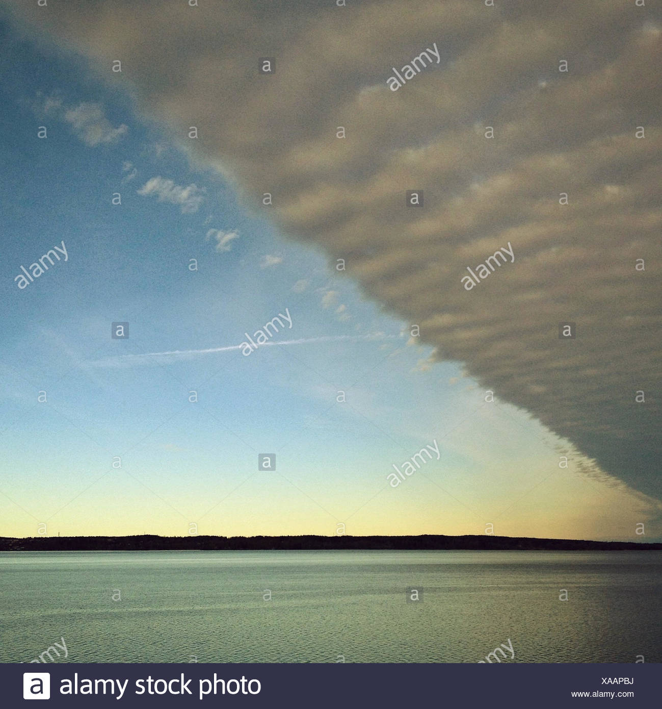 Bank of cloud over sea - Stock Image
