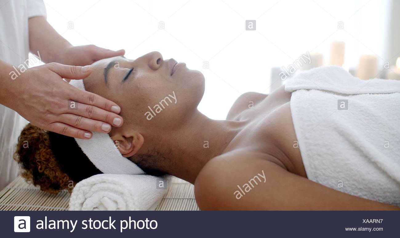 Cosmetic Treatment At The Health Spa Stock Photo
