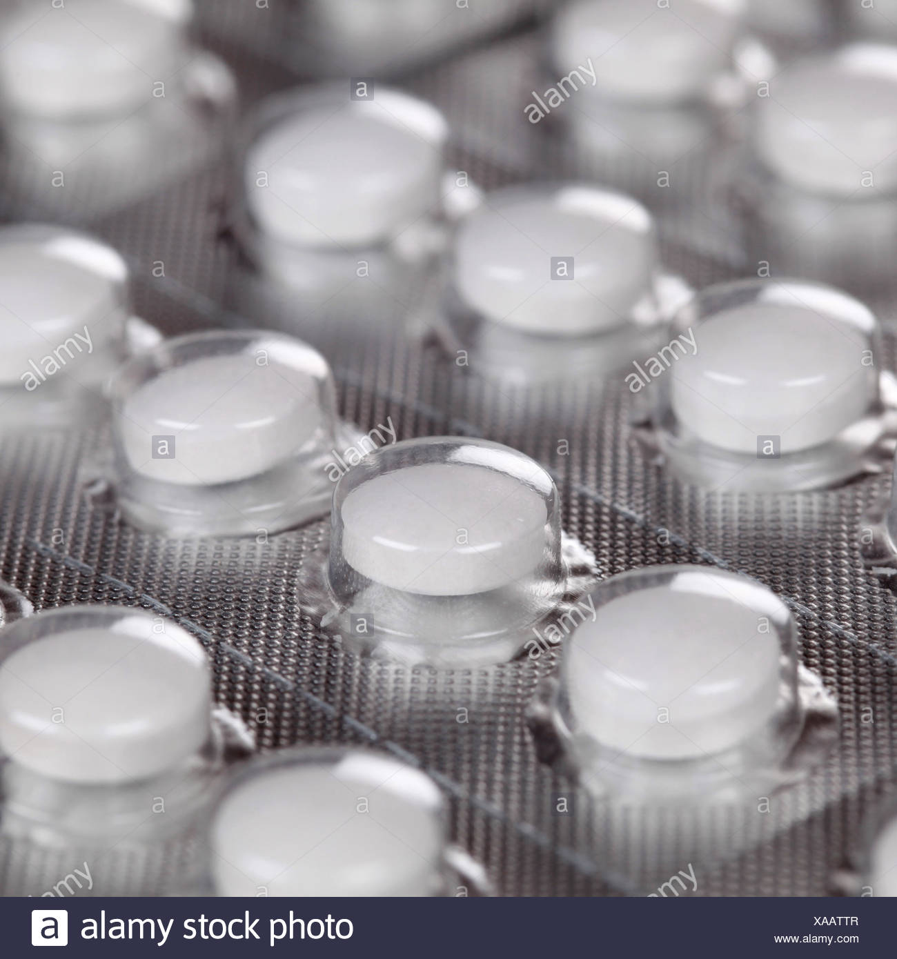 Tabletten im Blister - Stock Image