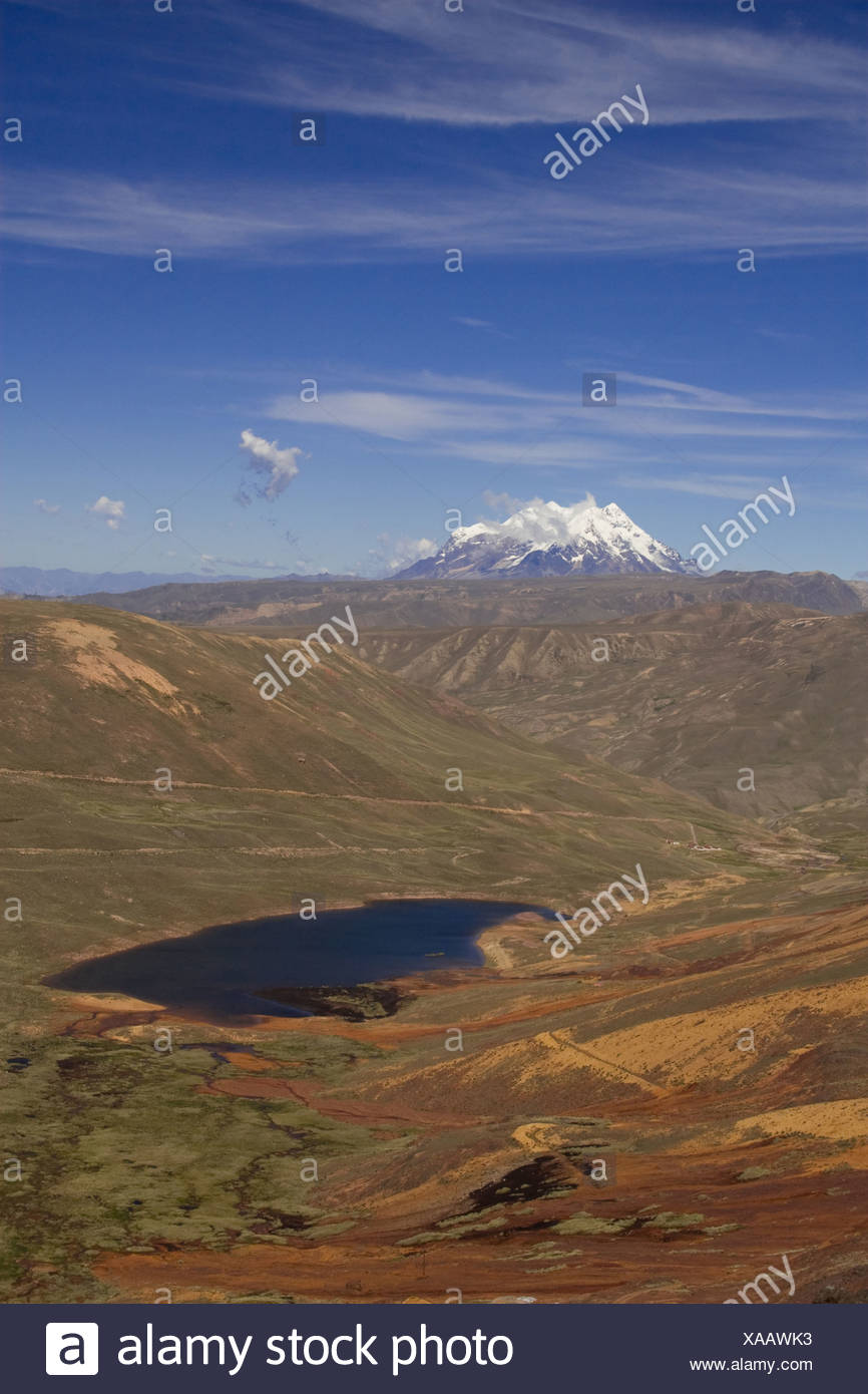 Nevado Illimani (6439m), Boliva - Stock Image