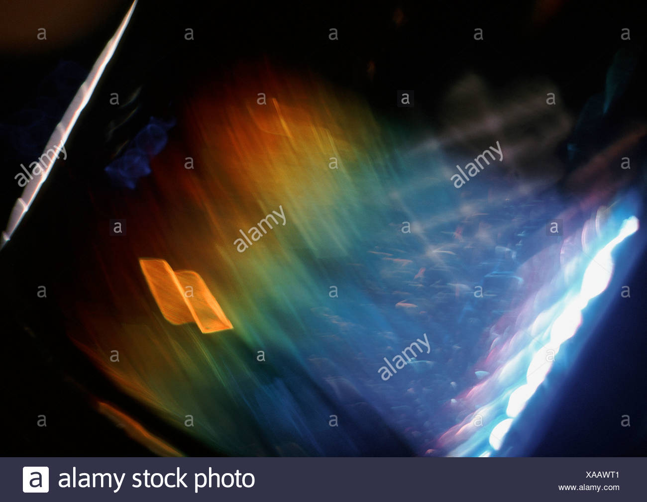 Light effect, rainbow colored - Stock Image