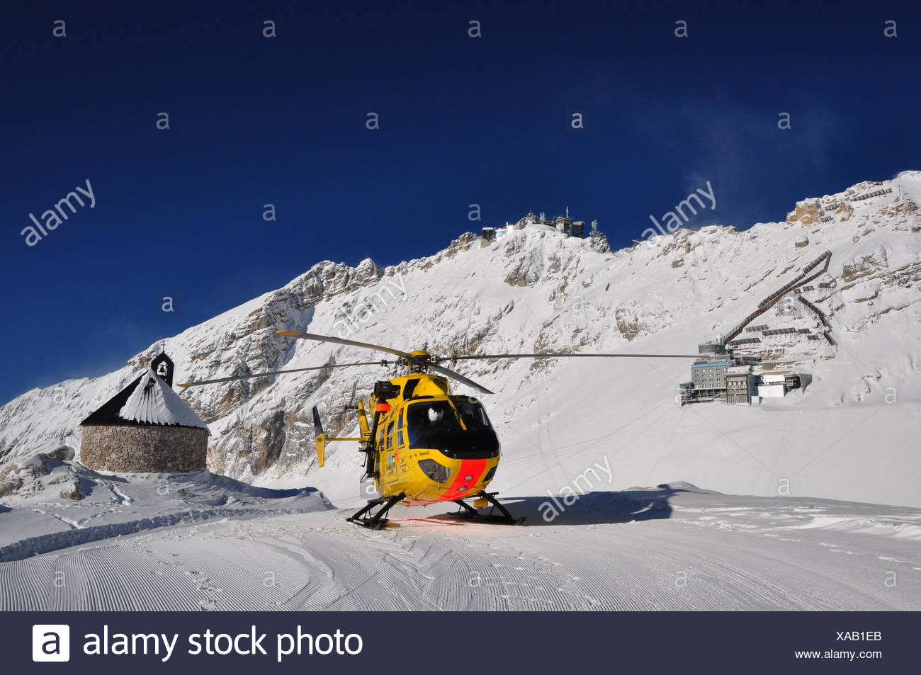 Germany,Bavaria,Zugspitze glacier,rescue helicopter,Zugspitze,summits,ADAC  helicopters