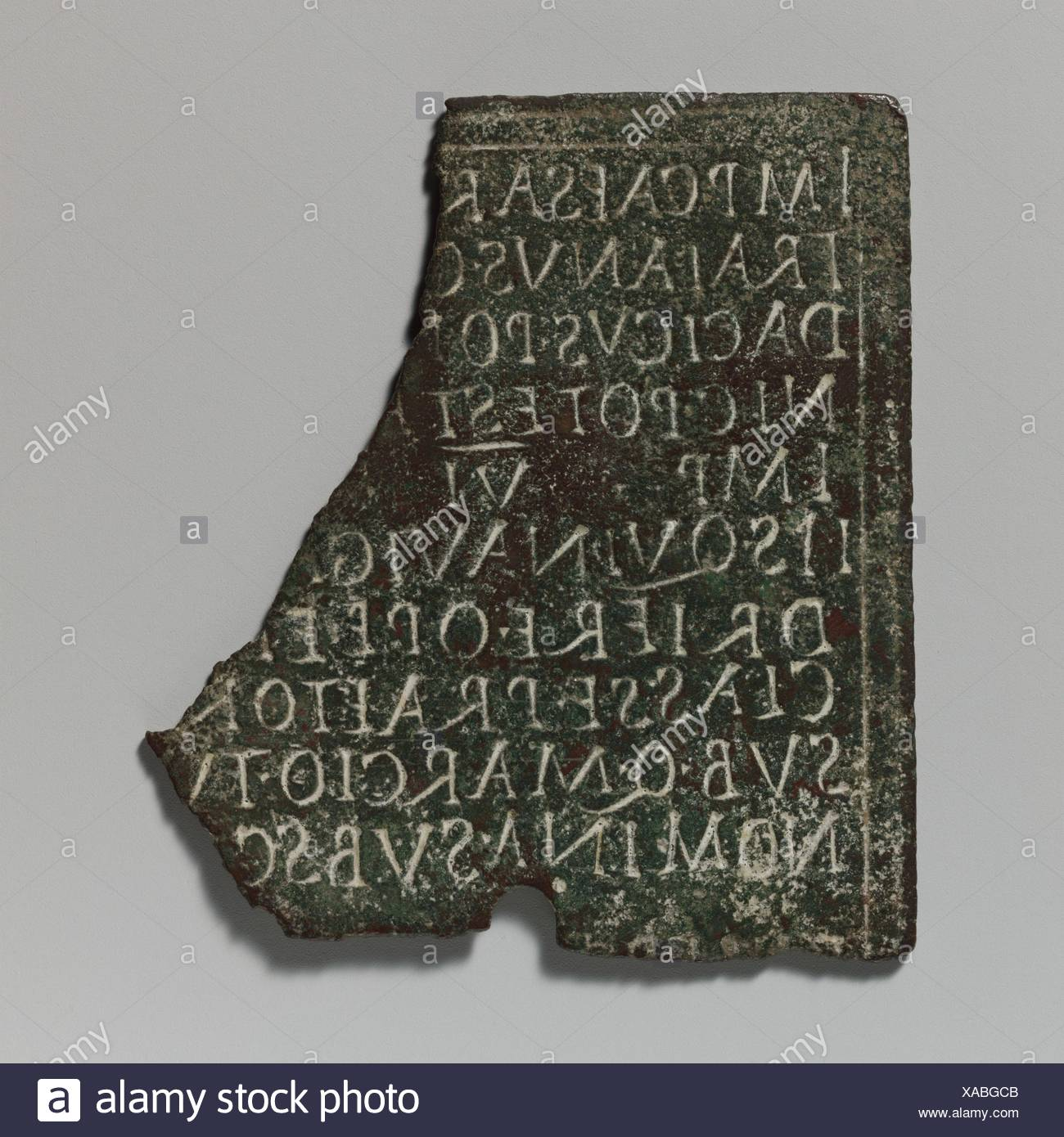 Ic 1 And 2 Stock Photos Images Alamy The Iron Bar In Uquot Shape With Dimensions As Shown Diagram Fragment Of A Bronze Military Diploma Period Mid Imperial Trajanic Date