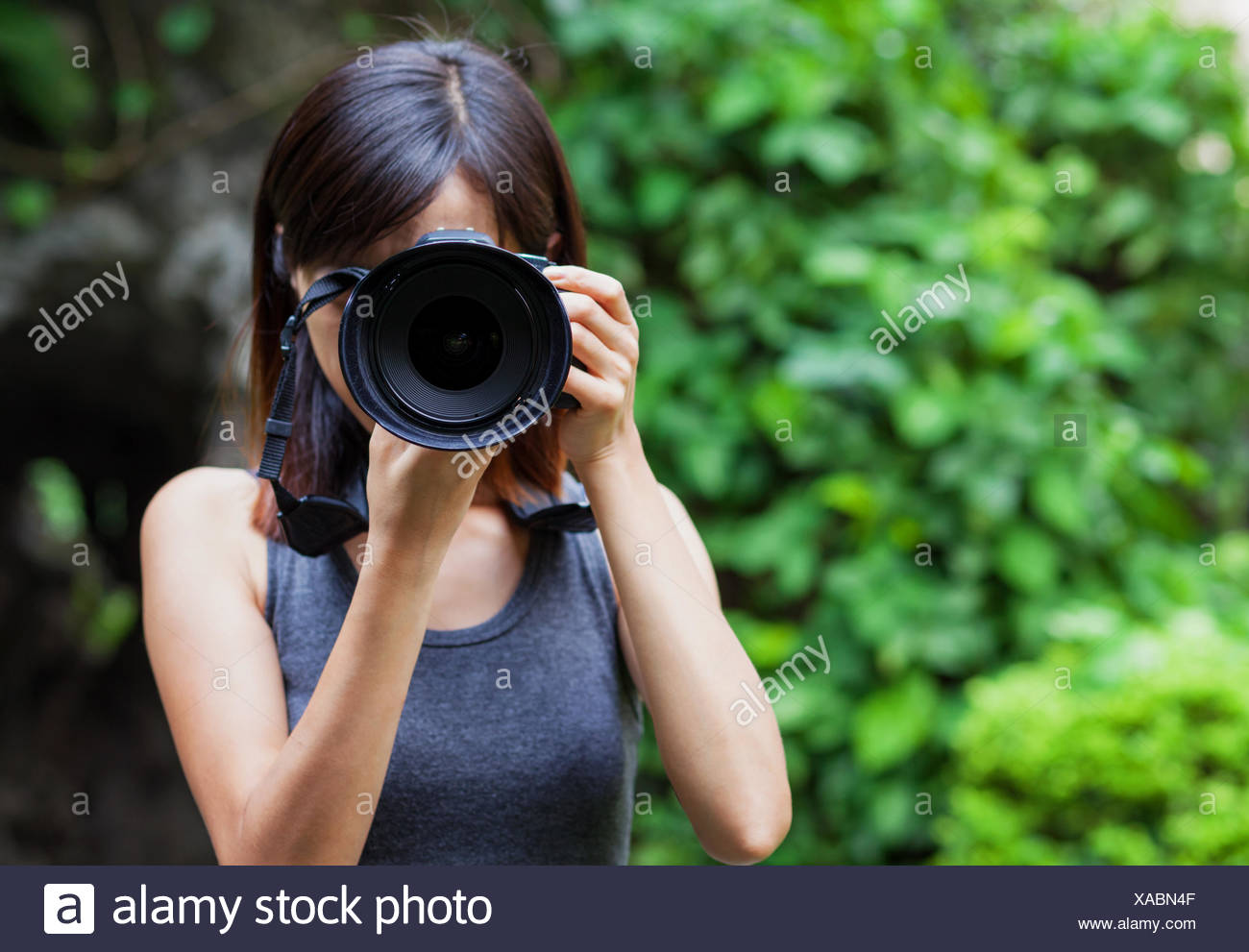 Woman Female Photo Camera Photography Picture Image Copy Deduction
