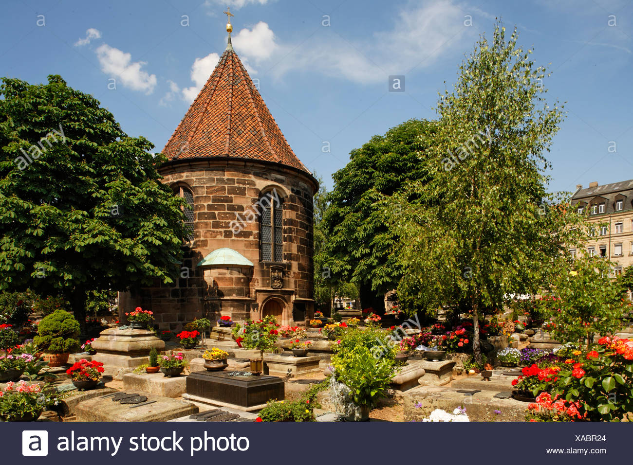Johannis graveyard, St. Johannis area, Nuremberg, Middle Franconia, Bavaria, Germany, Europe Stock Photo