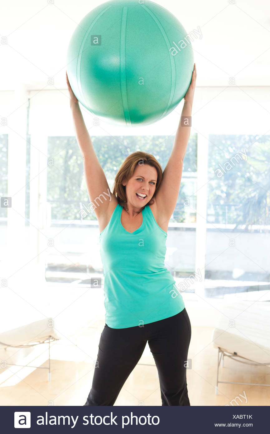 Woman exercising - Stock Image