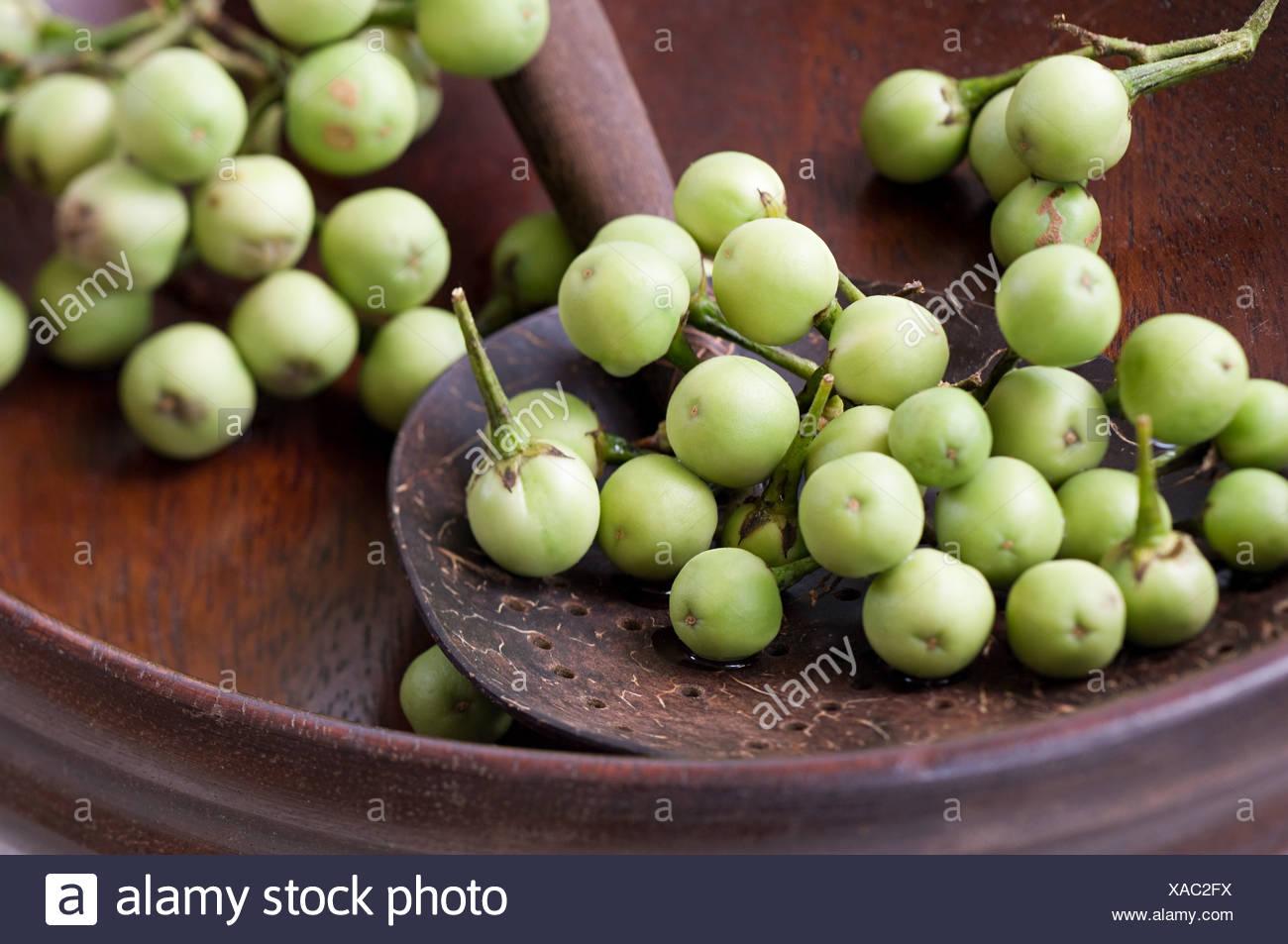 Pea aubergines - Stock Image