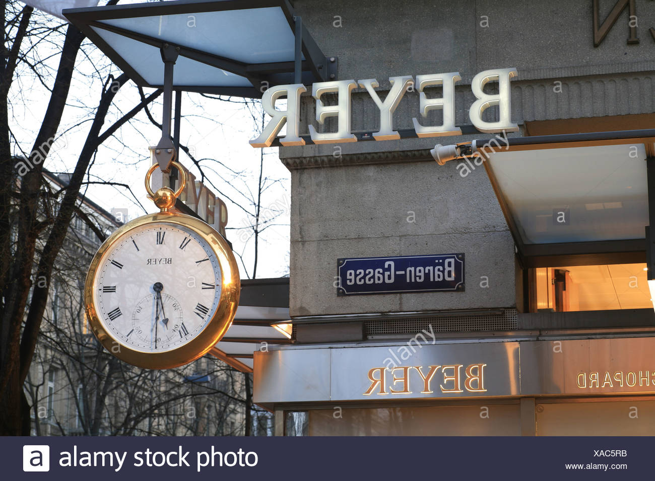 Beyer jeweler at Bahnhofstrasse, Zurich, Switzerland - Stock Image