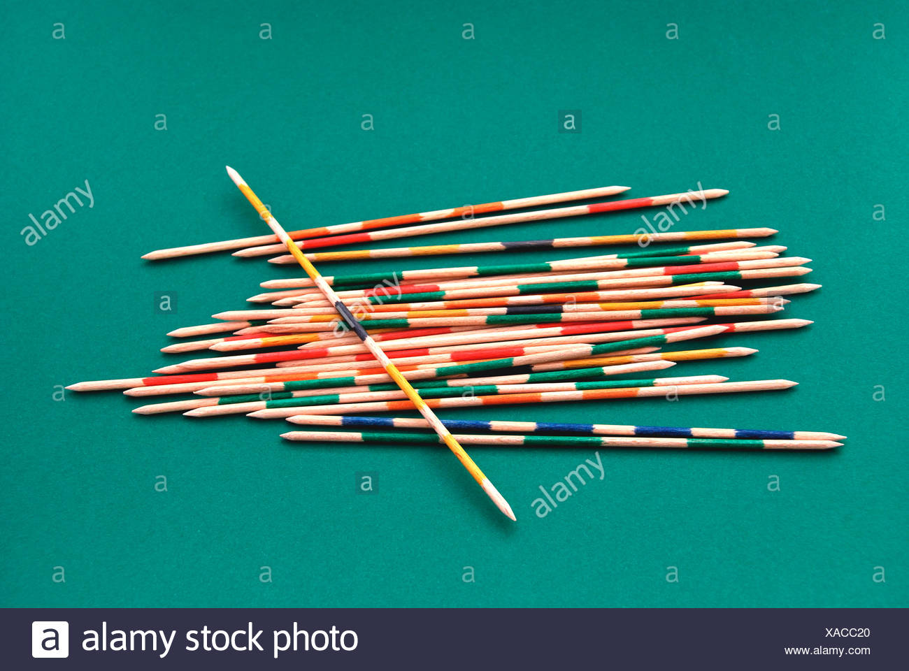 Mikado sticks, game of skill, symbolic image for dexterity, confusion, disorder - Stock Image