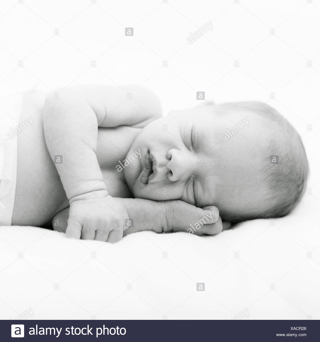 Cute baby sleeping - Stock Image
