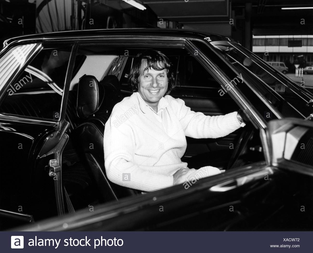 Jarier, Jean-Pierre, * 10.6.1946, French racing driver, in a Mercedes-Benz 450 SLC, 1980s, Additional-Rights-Clearances-NA - Stock Image