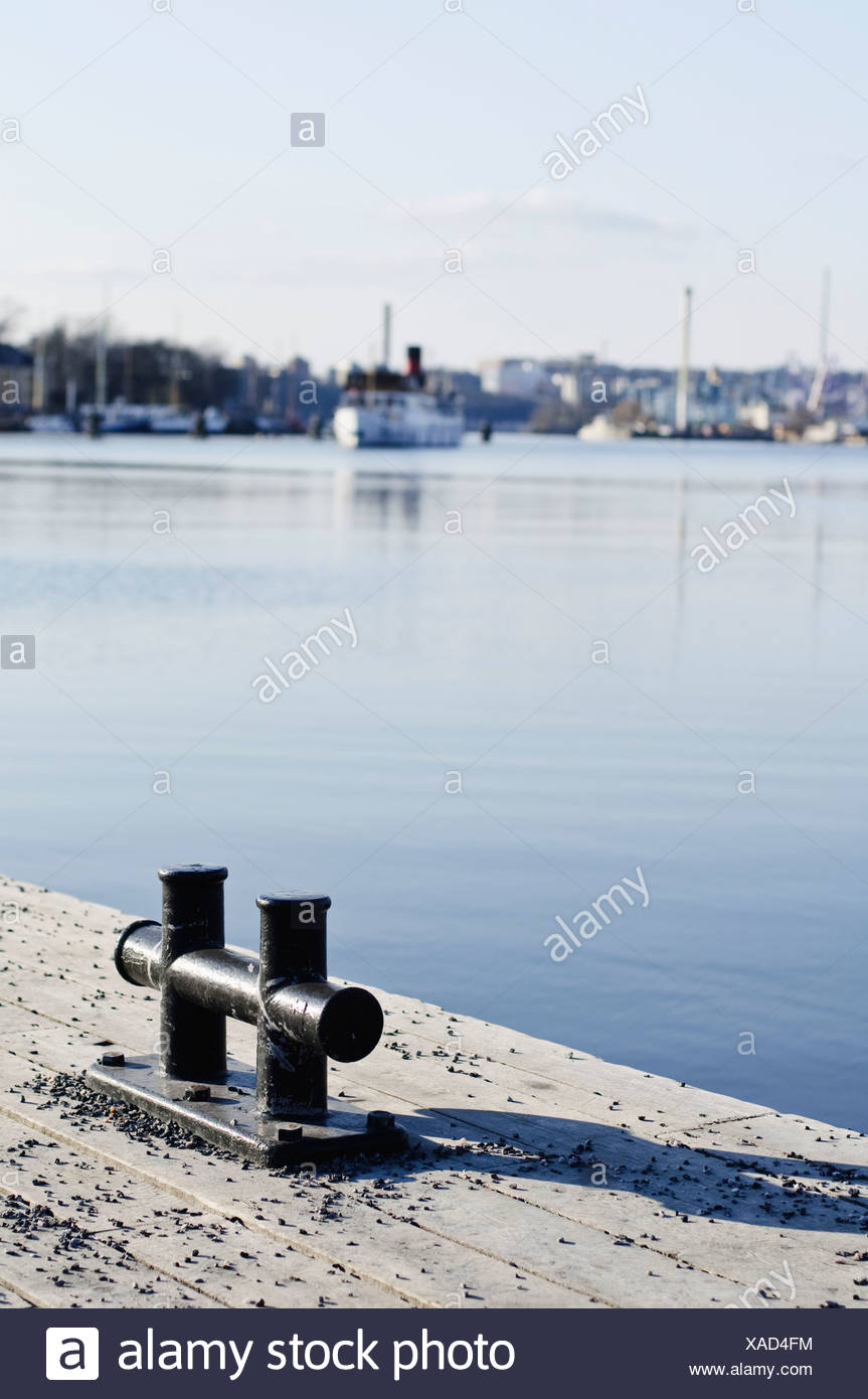 A stronghold by the harbour - Stock Image