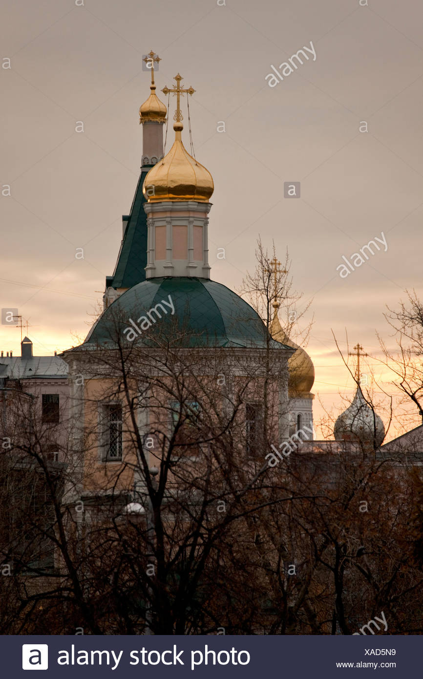 golden cupolas, moscow, russia - Stock Image