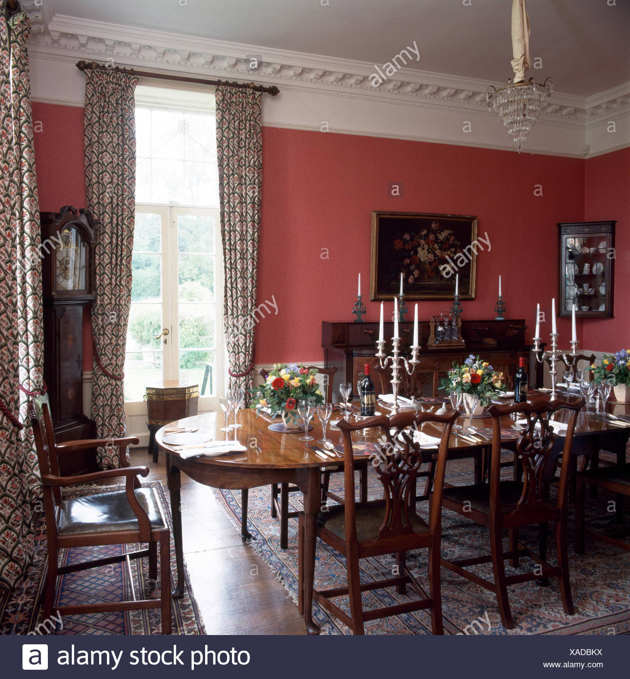 Red Dining Room Table: Georgian Dining Room Stock Photos & Georgian Dining Room