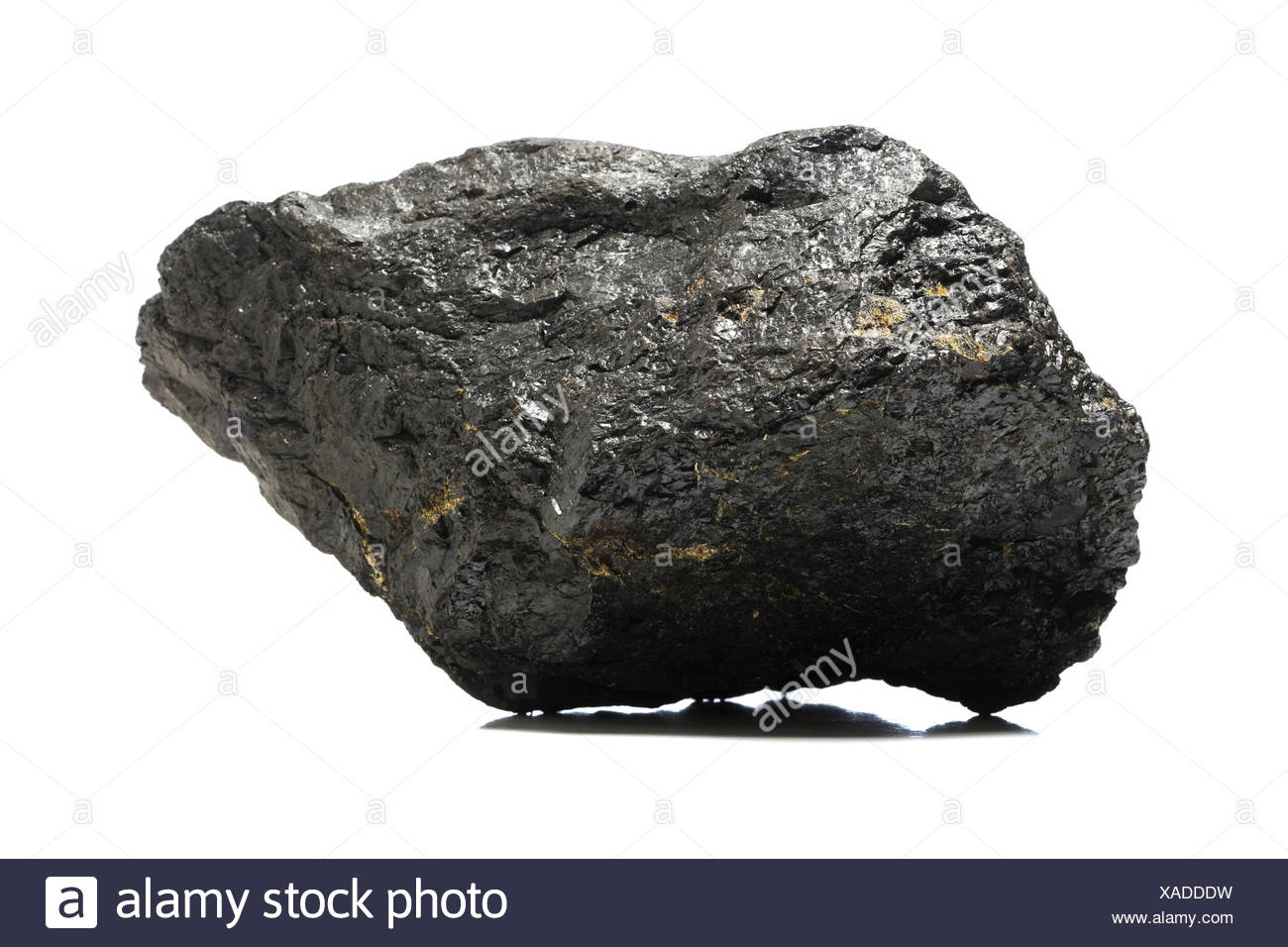 A piece of coal. - Stock Image