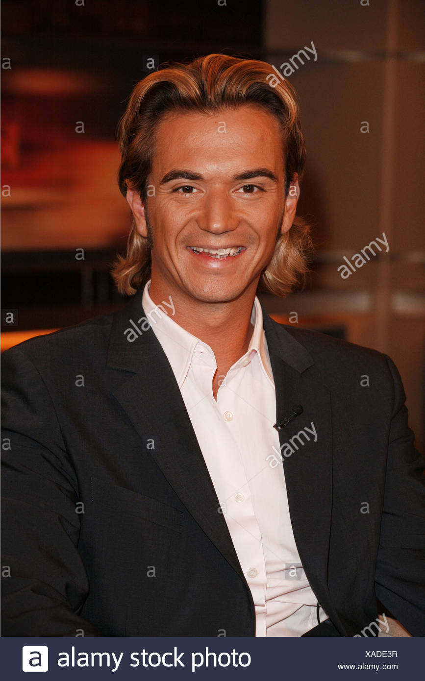Silbereisen, Florian, * 4.8.1981, German singer (folk music) and moderator, portrait, guest at TV show 'Johannes B. Kerner', Hamburg, 25.09.2007, Additional-Rights-Clearances-NA - Stock Image