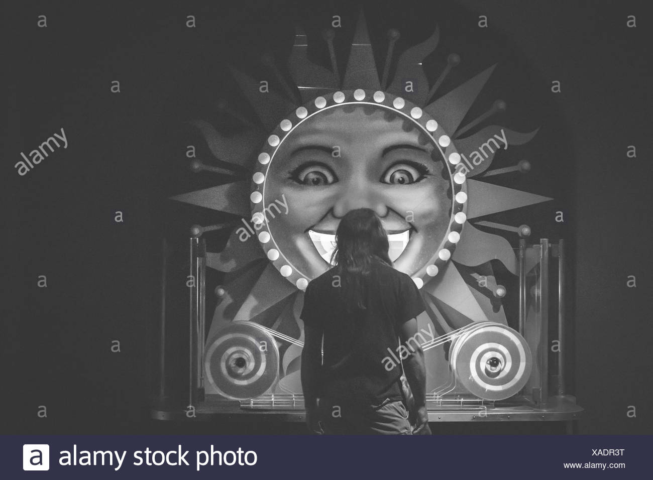 Side View Of Parked Bicycle Against The Wall - Stock Image