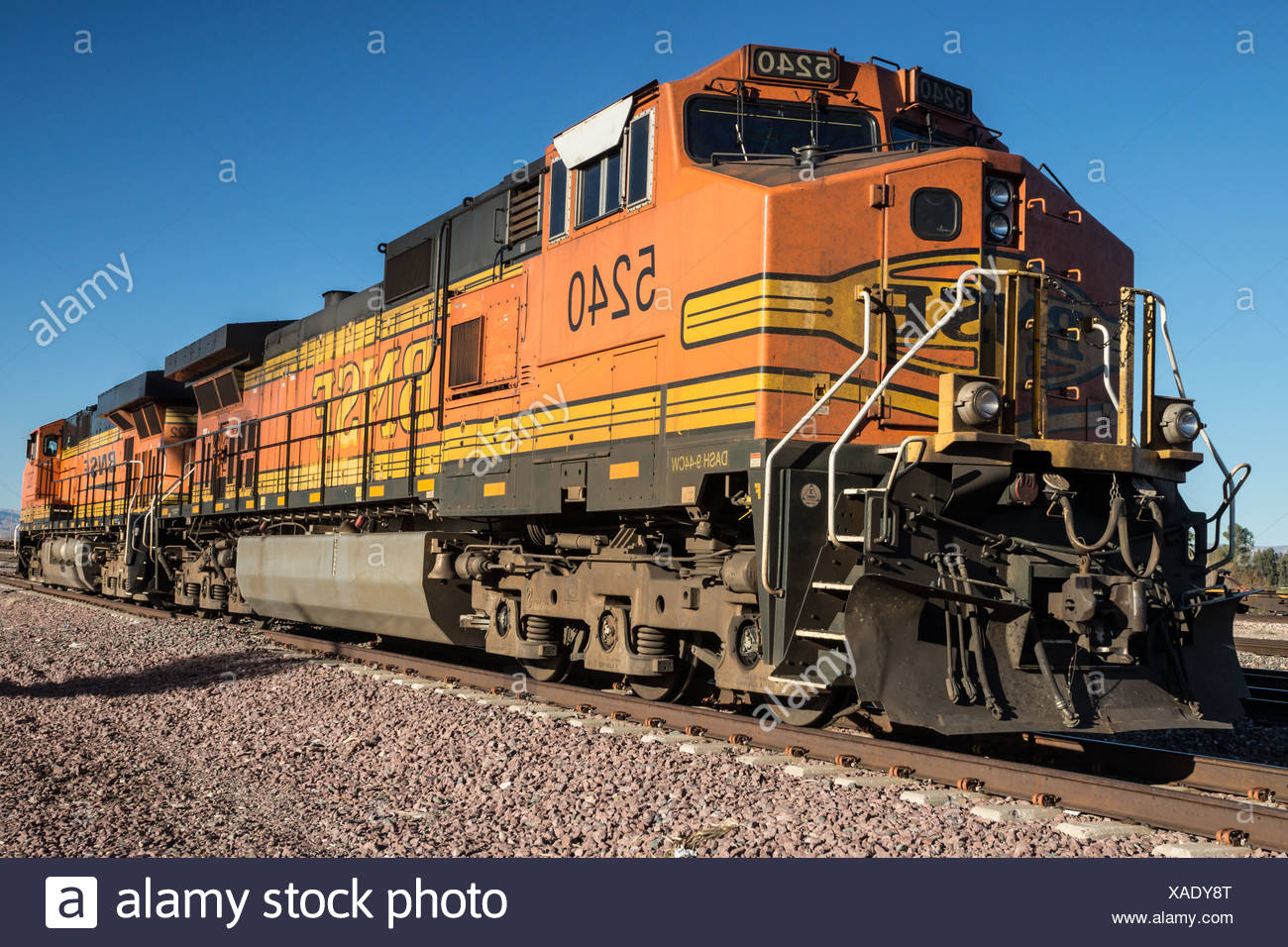 Diesel Locomotives - Stock Image