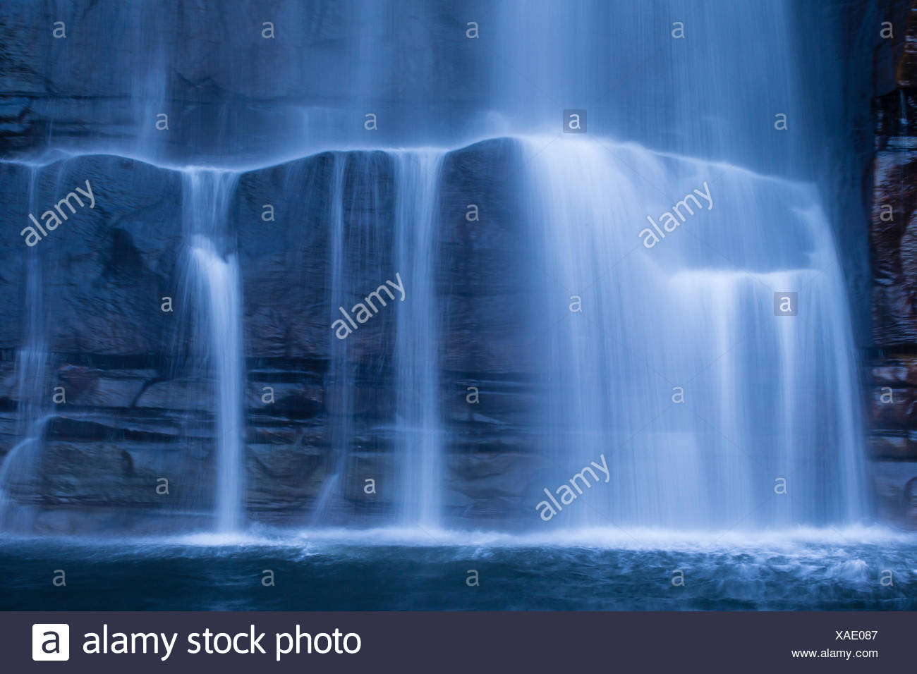 A motion blur photograph of King George Falls near Koolama Bay in the Kimberley Region of Northwest Australia. - Stock Image